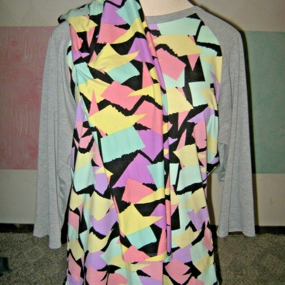 LuLaRoe Pants - LULAROE Pink Purple Mint Patchwork Outfit 3XL NEW
